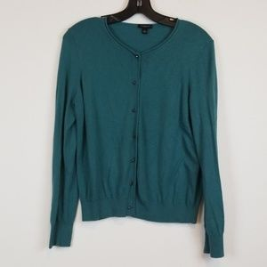 Ann Taylor green button down cardigan